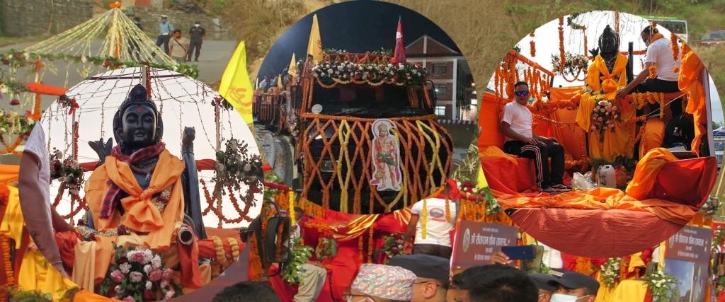 रामसीता मुर्ति देवघाट ल्याइयो : भोलि माडीको अयोध्यापुरीमा स्थापना गरिने